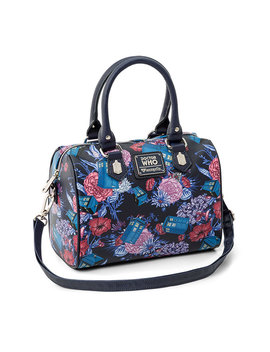 Doctor Who Tardis And Flowers Handbag by Think Geek