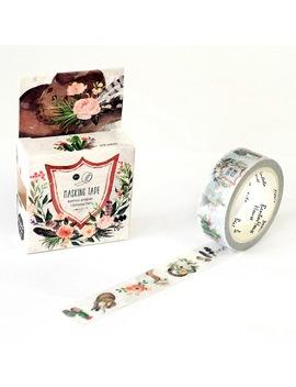 1.5 Cm*7 Cm Vintage Floral Flowers Janpanese Washi Tape Adhesive Tape Diy Scrapbooking Sticker Label Floral Masking Tape by Pinkinahy Store