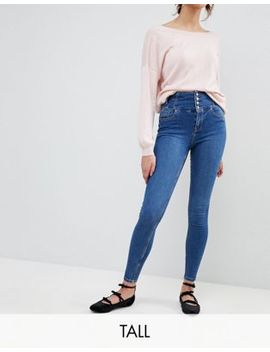 New Look Tall High Waist Skinny Blue Jean by New Look Tall