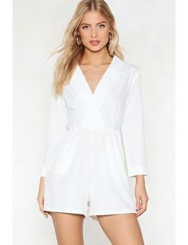 Coudn't Give A Tux Romper by Nasty Gal