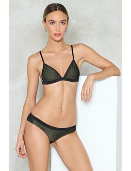 Stop Meshing Around Bikini Set by Nasty Gal