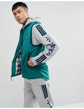 Adidas Skateboarding Vest In Green Ce1806 by Adidas