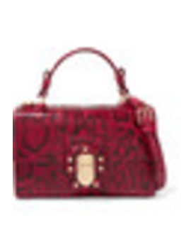 Lucia Python Shoulder Bag by Dolce & Gabbana