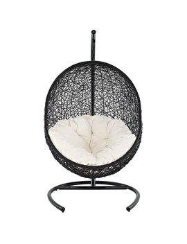 Modway Encase Rattan Outdoor Patio Swing Chair, Suspension Series by Modway