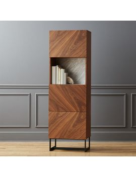 Suspend Ii Wood And Marble Bookcase by Crate&Barrel