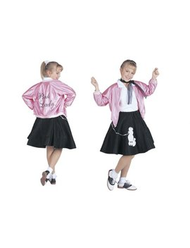 Rg Costumes 50's Pink Lady Jacket, Child Large/Size 12 14 by Rg Costumes