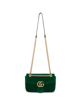 Sac En Velours Vert Small Gg Marmont 2.0 by Gucci