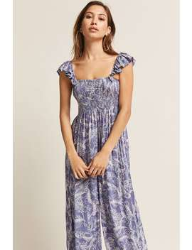 Boho Me Floral Wide Leg Jumpsuit by F21 Contemporary