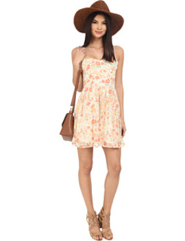 Correll Spring Meadows Printed Crinkle Chiffon Tie Back Fit And Flare Dress by Jack By Bb Dakota