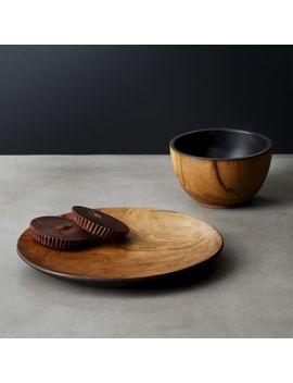 Pacific Teak Wood Dinnerware by Crate&Barrel