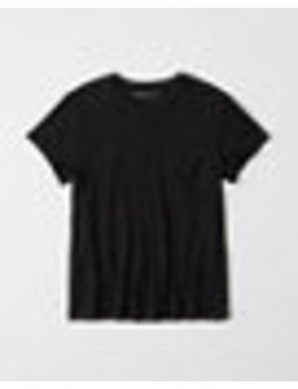 Linen Blend Boyfriend Tee by Abercrombie & Fitch