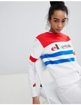 Ellesse Heritage Relaxed Sweatshirt With Rainbow Logo by Ellesse