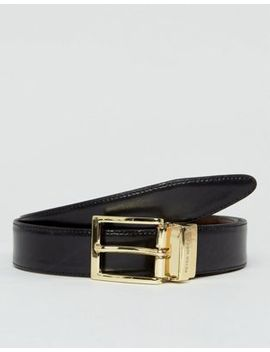Peter Werth Reversible Leather Belt In Black & Brown by Peter Werth
