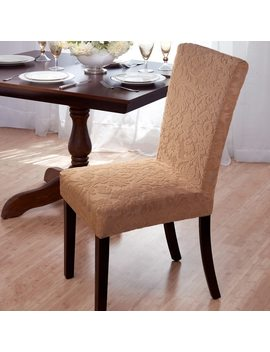 Velvet Damask Stretch Dining Chair Slipcovers by Generic