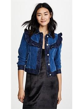 La Vie Velvet & Denim Jacket by La Vie Rebecca Taylor