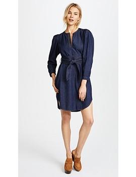 Long Sleeve Denim Belt Dress by La Vie Rebecca Taylor