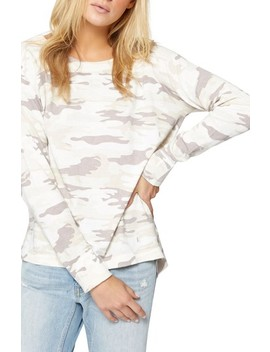 Trixie Lace Up Camo Sweater by Sanctuary