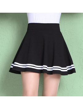 Pattern Korean Student Woman Skirt Autumn Winter Short Skirt You A A Line Half Body Pleated Skirt Waist Malfunction Overskirt by Kemao Official Store