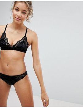 New Look – Lingerie Set Mit Bralette Und Slip Aus Samt Und Spitze by Asos Brand