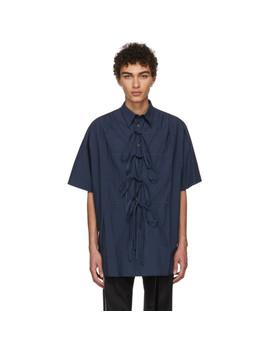 Navy Bows Shirt by Chin Mens