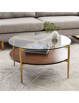Mid Century Art Display Round Coffee Table by West Elm