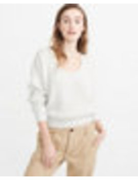 Puff Sleeve V Neck Sweater by Abercrombie & Fitch