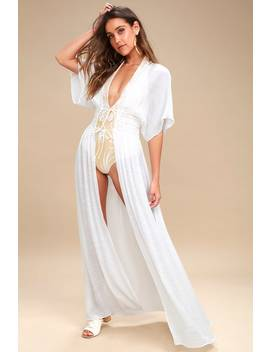Carried Away Off White Embroidered Maxi Top by Lulus