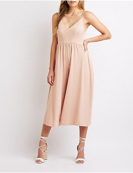 Cross Back Palazzo Jumpsuit by Charlotte Russe
