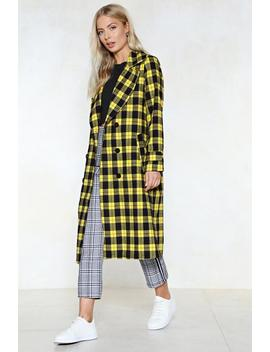 Believe Check Coat by Nasty Gal