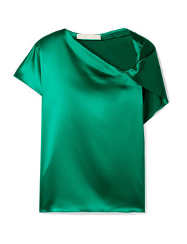 Knotted Silk Satin Top by Dion Lee