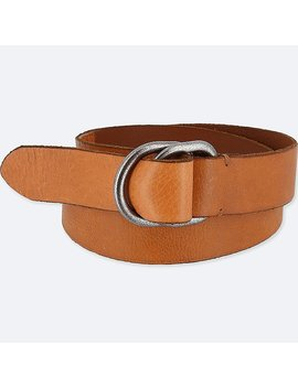 Men Leather Double Ring Belt by Uniqlo