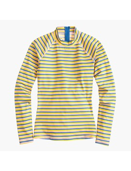 Long Sleeve Rash Guard In Sunshine Stripe by J.Crew