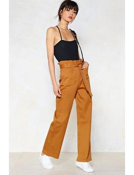 Bag Along High Waisted Pants by Nasty Gal