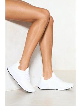 On The Go Vegan Leather Sneaker by Nasty Gal