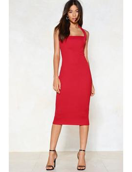 Tie Me Up Midi Dress by Nasty Gal