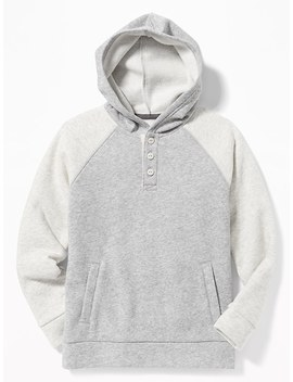 Raglan Sleeve Fleece Hoodie For Boys by Old Navy