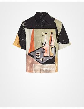 Short Sleeved Colored Bottle Print Shirt   Ucs276 1 Pjy F0002 S 162 by Prada