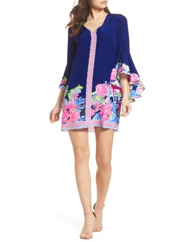 Rosalia Bell Sleeve Silk A Line Dress by Lilly Pulitzer®