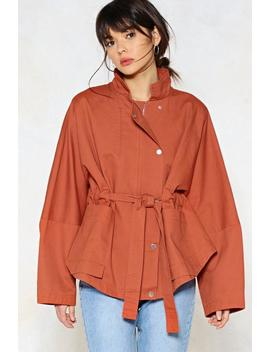 Tie Again Later Oversized Jacket by Nasty Gal