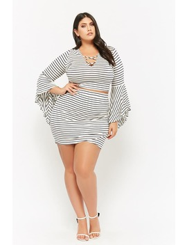 Plus Size Striped Mini Skirt by Forever 21