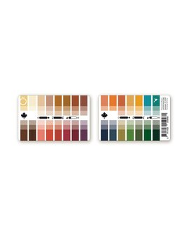 Seasonal Color Palette Card Dark (True) Autumn With 30 Colors For Color Analysis And Image Consulting by Color & Style