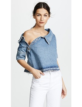 Denim Crop Top by Monse