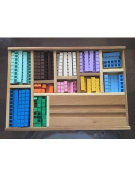 Math U See Manipulative Integer Blocks Set Kit In Wooden Cases   Homeschool by Ebay Seller
