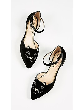 Mid Century Kitty D'orsay Flats by Charlotte Olympia