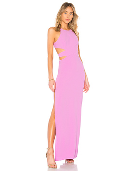 High Neck Tie Back Gown by Halston Heritage