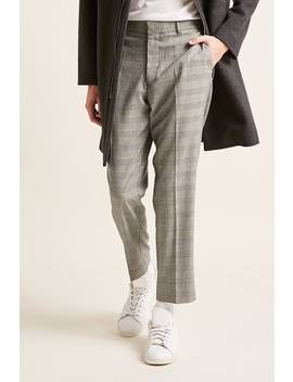 Glen Plaid Slim Fit Pants by F21 Contemporary