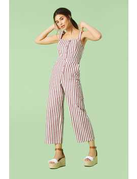 Striped Denim Jumpsuit by Forever 21