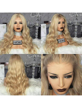 Stunning 100 Percents Brazilian Human Hair, Body Wave, Blonde, Lace Wig by Etsy