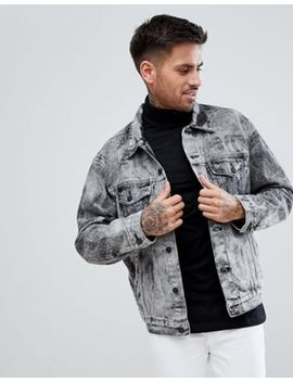 New Look Denim Jacket In Acid Wash  Black by New Look