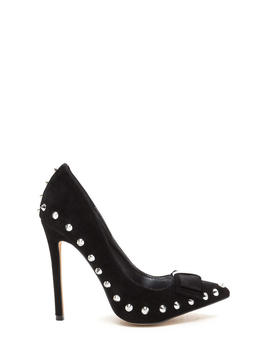 Bow My Goodness Studded Pointy Pumps by Go Jane